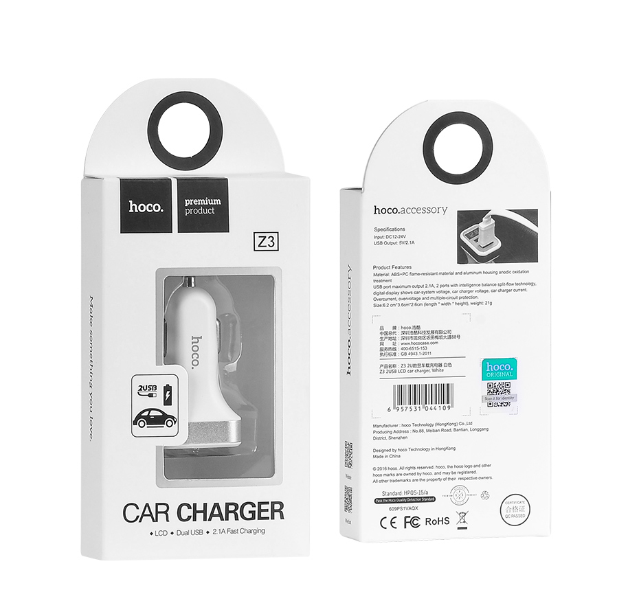 Z3  Hoco usb charger